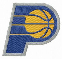 Indiana Pacers alternative logo embroidery design