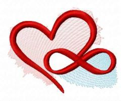 infinity love embroidery design
