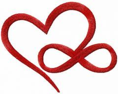 Infinity love 2 embroidery design