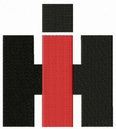 International Harvester alternative logo embroidery design
