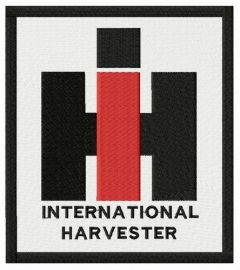 International Harvester logo embroidery design
