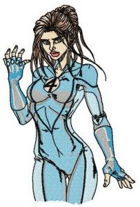 Invisible woman 2 embroidery design