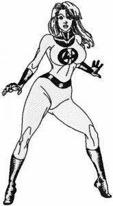 Invisible woman embroidery design