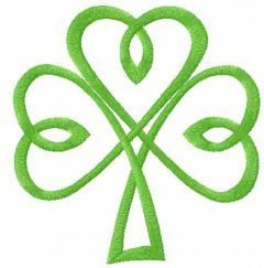 Irish clover 4 embroidery design