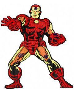 Iron Man 1 embroidery design
