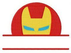 Iron Man monogram embroidery design