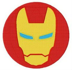 Iron Man round badge embroidery design