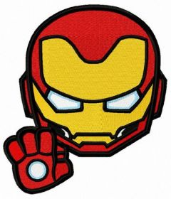 Iron Man STOP 2 embroidery design