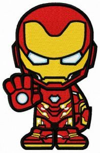 Iron-willed Iron Man embroidery design