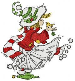 It's windy before Christmas embroidery design