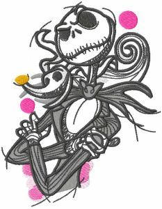 Jack and spooky embroidery design