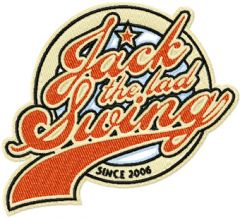 Jack The Lad Swing Logo machine embroidery design