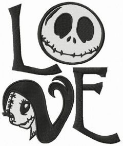 Jack's love embroidery design