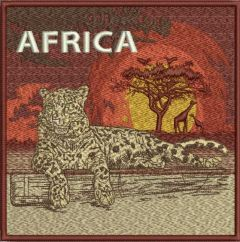 African savanna embroidery design
