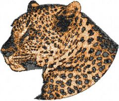 Jaguar embroidery design