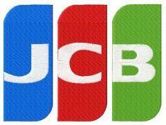 Japan Credit Bureau logo embroidery design