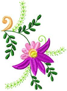Flowers Small Element 3 embroidery design