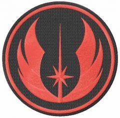 Jedi Order logo embroidery design