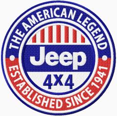 Jeep 4 x 4 logo embroidery design