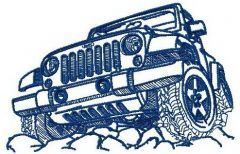 Jeep off-road embroidery design