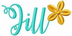 Jill embroidery design