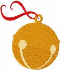 Jingle bell free embroidery design