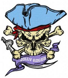 Jolly Roger embroidery design