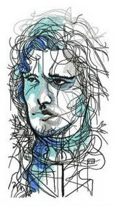 Jon Snow embroidery design