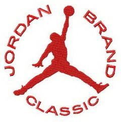 Jordan Brand Classic alternative logo embroidery design