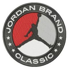 Jordan Brand Classic logo embroidery design