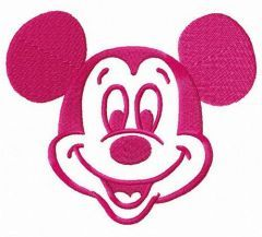 Joyful Mickey embroidery design