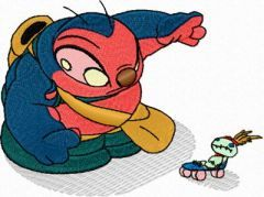 Dr. Jumba Jookiba and Toy embroidery design