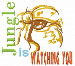 Jungle is watching you embroidery design