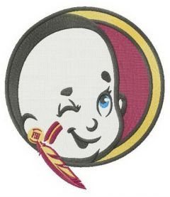 Junior Florida State Seminoles logo embroidery design