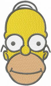 Just Homer embroidery design
