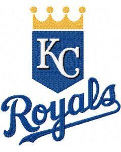 Kansas City Sporting logo embroidery design