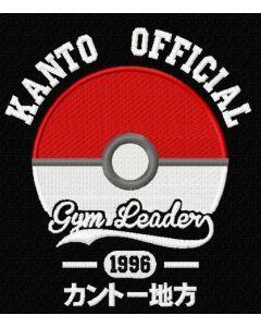 Kanto Official logo embroidery design