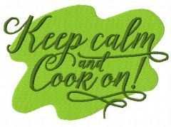 Keep calm and cook on 2 embroidery design