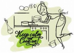 Keep calm and cook on 3 embroidery design