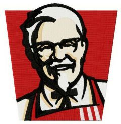 KFC logo embroidery design