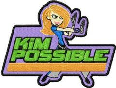 Kim Possible Badge embroidery design