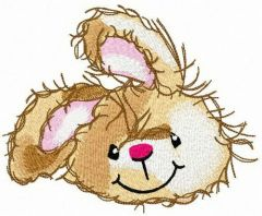 Kind bunny embroidery design