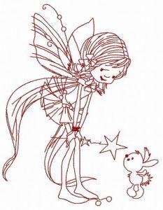 Kind fairy 2 embroidery design