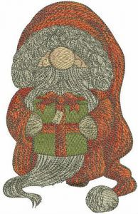 Kind gnome embroidery design