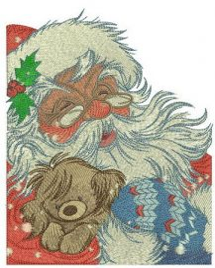 Kind Santa Claus embroidery design