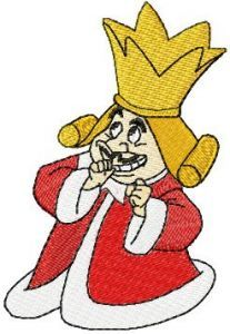King of hearts embroidery design