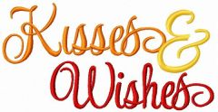 Kisses and Wishes embroidery design