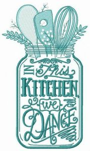 Kitchenware embroidery design