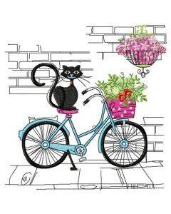 Kitten's Italian journey embroidery design