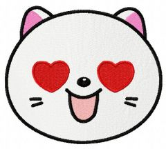 Kitty in love embroidery design 2